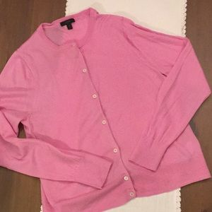 J. Crew pink cardigan xlarge